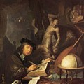 The Painter In His Workshop 1647 by Dou Gerrit