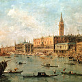 The Palace And The Molo From The Basin Of San Marco by Francesco Guardi