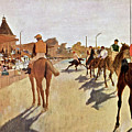 The Parade, Digitally Enhanced Highest Resolution,race Horses In Front Of The Tribune, Edgar Degas by Edgar Degas