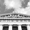 The Parthenon In Nashville Tennessee Black And White 2 by Lisa Wooten