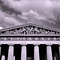 The Parthenon In Nashville Tennessee Black And White by Lisa Wooten