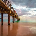 The Pastel Sky And The Jetty by Hugh Walker