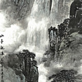The Pavilion Appreciates The Waterfall by Kong Zhongqi