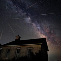 The Perseid Meteor Shower At Lower Fox Creek School  by Keith Kapple