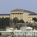 The Philly Art Museum And Waterworks by Bill Cannon