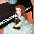 The Pianist And Her Pekinese by Michela Akers