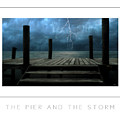 The Pier And The Storm Poster by Mike Nellums