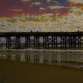 The Pier At Sunset by Donna Bentley