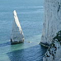 The Pinnacle Stack Of White Chalk On The Isle Of Purbeck Dorset England Uk by Andy Smy
