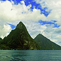 The Pitons by Gary Wonning