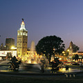 The Plaza In Kansas City, Mo, At Night by Michael S. Lewis