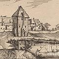 The Pond by Claes Jansz Visscher After Johannes Van Doetechum, The Elder After Lucas Van Doetechum After Master Of The Small Landscapes