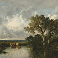 The Pond With Oaks by Leon-Victor Dupre
