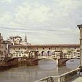 The Pontevecchio - Florence  by Antonietta Brandeis