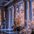 The Porch Of The European Collection Art Gallery At The Huntington Library In Infrared by Randall Nyhof