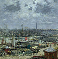 The Port Of Bordeaux by Eugene Louis Boudin