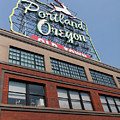 The Portland Oregon Sign Aka The White Stag Sign In Portland Oregon 5d3427 by Wingsdomain Art and Photography