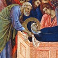 The Position Of Mary In The Tomb Fragment 1311 by Duccio