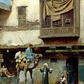 The Pottery Seller In Old City by Mark Carlson