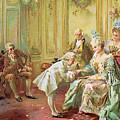 The Presentation Of The Young Mozart To Mme De Pompadour At Versailles by Vicente de Parades