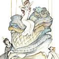 The Princess And The Pea, Illustration For Classic Fairy Tale by Elena Abdulaeva