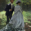 The Promenaders by Claude Monet