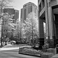 The Proscenium In Midtown Atlanta In B And W by Jill Lang