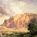 The Pueblo Of Acoma In New Mexico by Thomas Moran