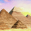 The Pyramids Of Giza by Roy Pedersen