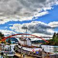 The Rainbow Bridge - Laconner Washington by David Patterson