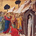 The Raising Of Lazarus by Duccio