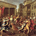 The Rape Of The Sabines by Nicolas Poussin