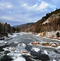 The Rapids In Winter by Bill Driscoll