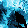 The Raven's Blues by Abstract Angel Artist Stephen K