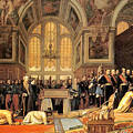 The Reception Of The Siamese Ambassadors Fontainebleau by Jean Leon Gerome 1824-1904
