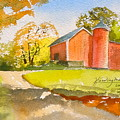 The Red Barn by Harding Bush
