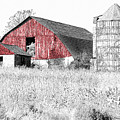 The Red Barn - Sketch 0004 by Ericamaxine Price