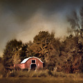 The Red Barn Welcomes Autumn by Jai Johnson