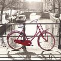The Red Bicycle Of Amsterdam by Saiid El Ghazal