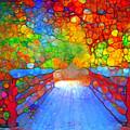 The Red Bridge In Autumn by Tara Turner