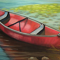 The Red Canoe by Marcia  Hero