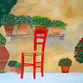 The Red Chair, Tuscany by Sandra Lorant
