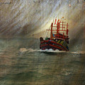 The Red Fishing Boat by LemonArt Photography