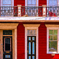 The Red House-nola-faubourg Marigny by Kathleen K Parker