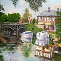 The Red Lion Inn By The Riverbank by Peter Gartner
