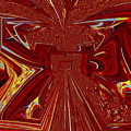 The Red Palace In Abstract by Debra Lynch