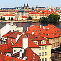 The Red Tile Roofs Of Prague by C H Apperson