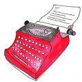 The Red Typewriter by Anna Elkins
