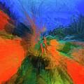 The Reef In Watercolor Abstract by Debra and Dave Vanderlaan
