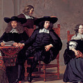 The Regents Of The Old Men And Women Hospital In Amsterdam by Adriaen Backer